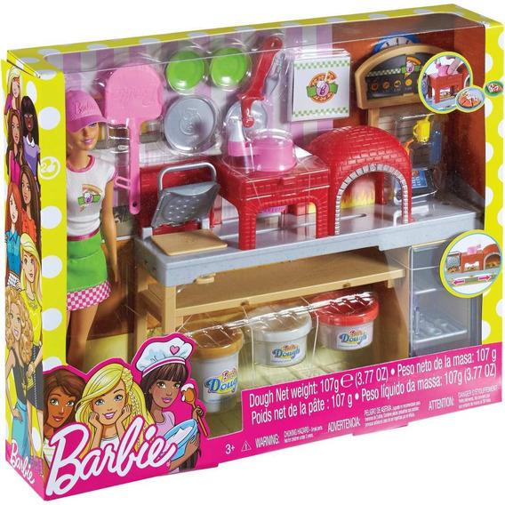 Barbie Cozinhando E Criando Pizzaiola Mattel Fhr09