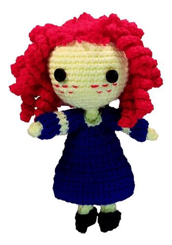 Peluche Mérida Disney Crochet Amigurumi