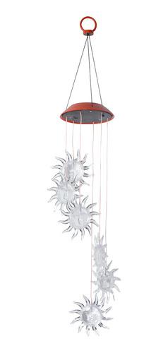 Imagen 1 de 8 de Solar Sun Design Wind Chime Light Colgante Lámpara Decoració