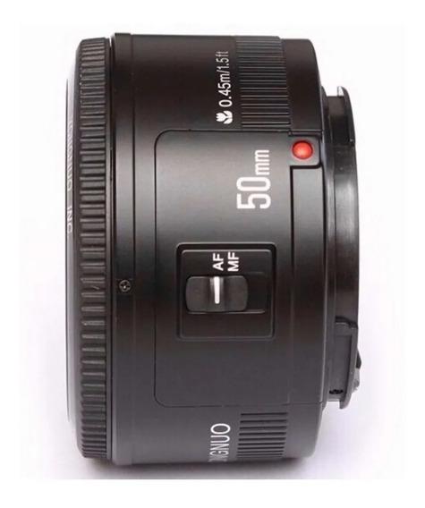 Lente 50mm Yongnuo F/1.8 Para Cameras Canon + Brinde