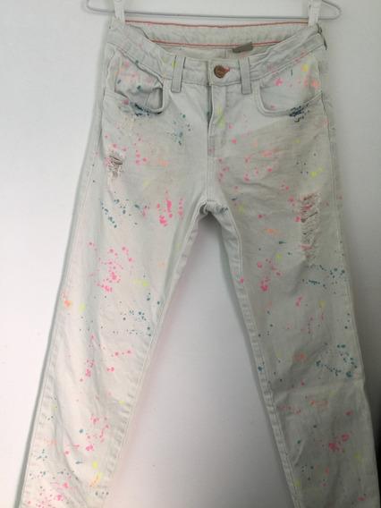 Zara - Calça Color. Tamanho 9 / 10 Anos