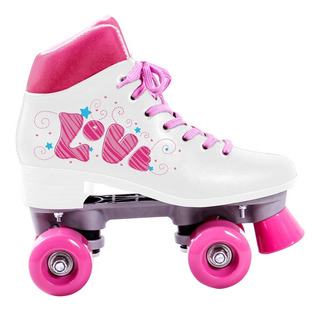 Patins 38 Roller 4 Rodas Love Retrô Quad Pro Bel Sports 3738