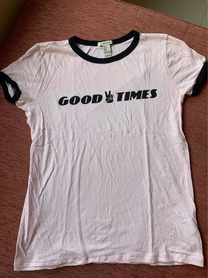 Remera Rosa good Times Mujer Forever 21