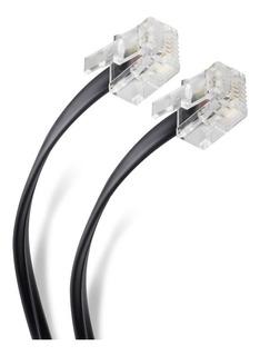 Cable Plug A Plug Rj11 De 4.5m, Para Extensión De Telefono