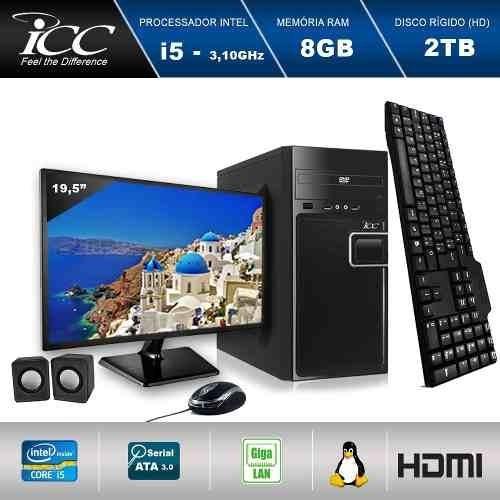 Pc Intel Core I5 3.20 Ghz 8gb Hd 2tb Monitor 19,5