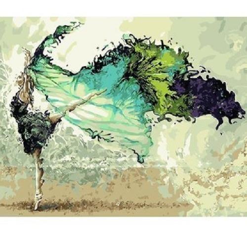 Lienzo Para Pintar Por Números Bailarina Ballet
