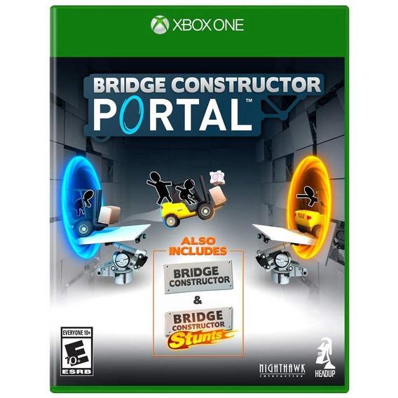 Bridge Constructor Portal Xbox One Mídia Física Novo Lacrado