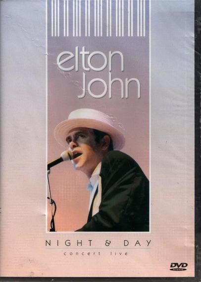 Dvd Elton John - Night & Day Concert Live - Original Lacrad