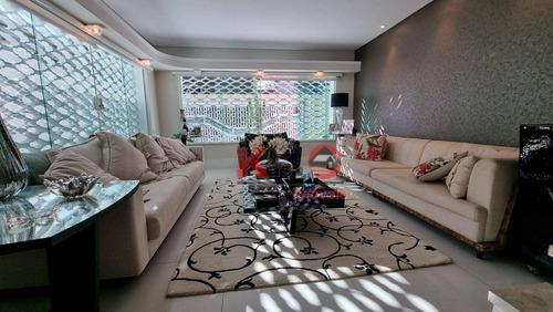 Imagem 1 de 10 de Casa Com 3 Dormitórios, 255 M² - Venda Por R$ 2.250.000,00 Ou Aluguel Por R$ 15.000,00/mês - Gonzaga - Santos/sp - Ca1226