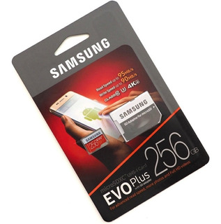 Cartão Evo Samsung 256gb Micro Sd 95mb/s Galaxy S10 S9 S8 S7 Mavic Pro Dji Android Motorola Drone LG Sony