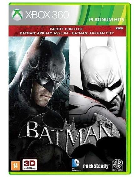 Batman Arkham Asylum + Batman Arkham City Xbox 360 Fisica Nf