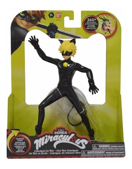 Cat Noir Em Ação Original Zag H. Miraculous Bandai #39732