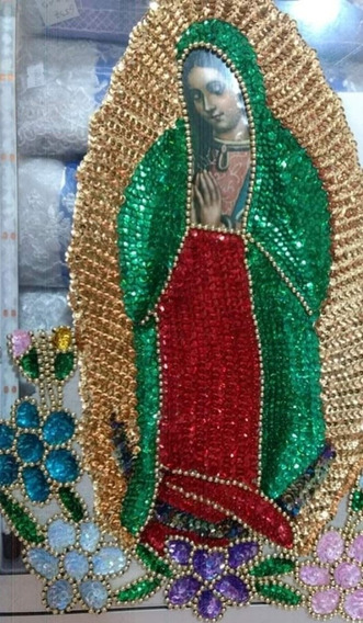 Virgen Lentejuela 55cms