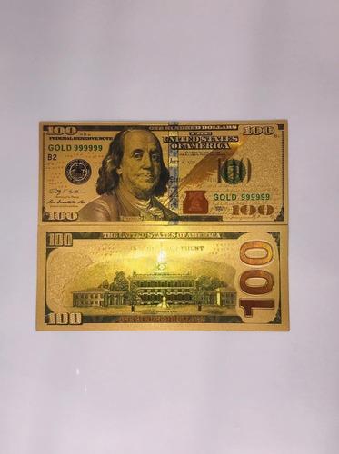 Billetes De 100 Dólares Dorado