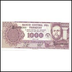 Paraguai - Céd De 1000 Guaranis - Ano 1.998 - Fe