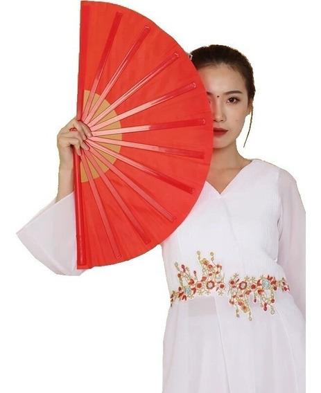 Leque Oriental Grande Dança Kung Fu Tai Chi Chuan Liso