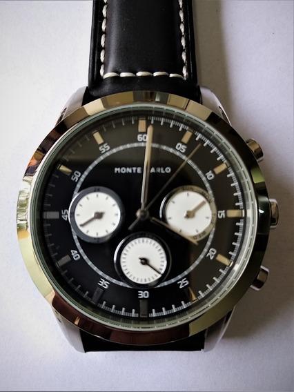 Relógio Monte Carlo Quartz Cronos Funcionais Novinho Baixei