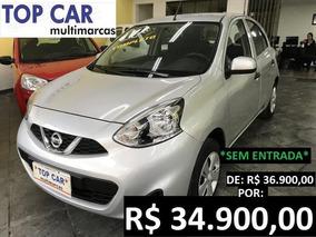 Nissan March S 1.0 2017 - Carro Completo Sem Entrada