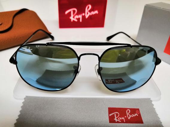 Óculos De Sol Ray-ban Rb3561 General Azul Espelhado