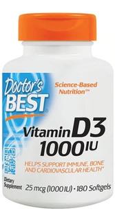 Vitamina D3 1000 Ui - 180 Softgels Importada Eua - Promoção