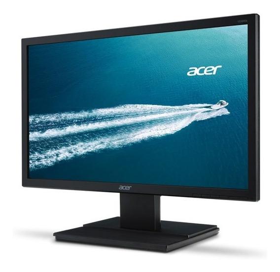Monitor Led 19,5 Acer V246hl 24 Led 1920x1080 Widescreen Full Hd Hdmi Vga Dvi Vesa