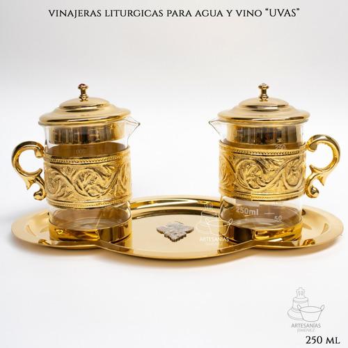 Imagen 1 de 6 de Juego De Vinajeras Para Agua Y Vino A953 Uvas