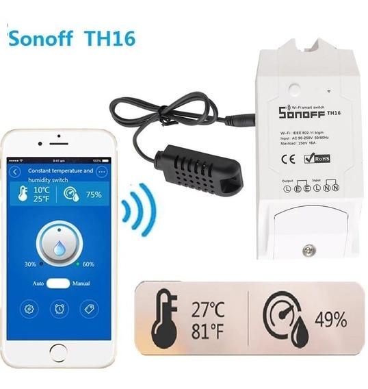 Sonoff Th16 Wifi Temperatura Y Humedad Domotica