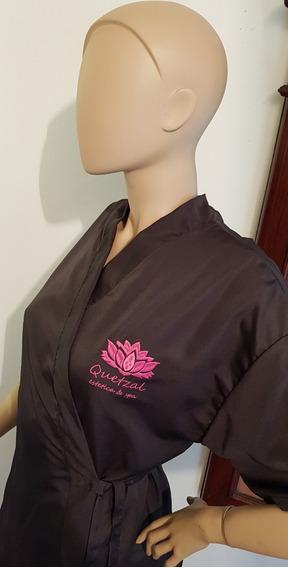 Bata Microfibra Clienta Peluquería Estética Spa Xxl Sin Logo