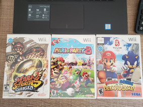 Mario Strikers Charged + Mario Party 8 + Mario & Sonic Wii