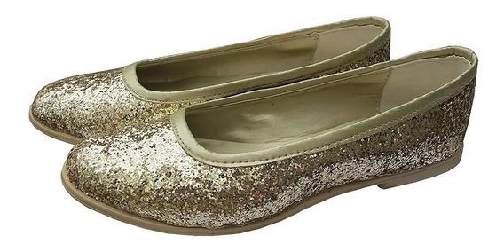 Promo 2x1 Chatitas Zapato D Brillos Glitters Talles Grandes