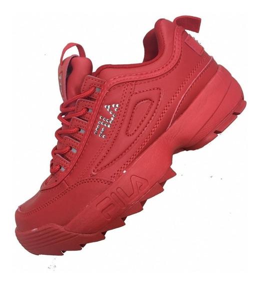 Buba Fila Disructor Zapatos Deportivos Vietnam Rojo 36 Al 40