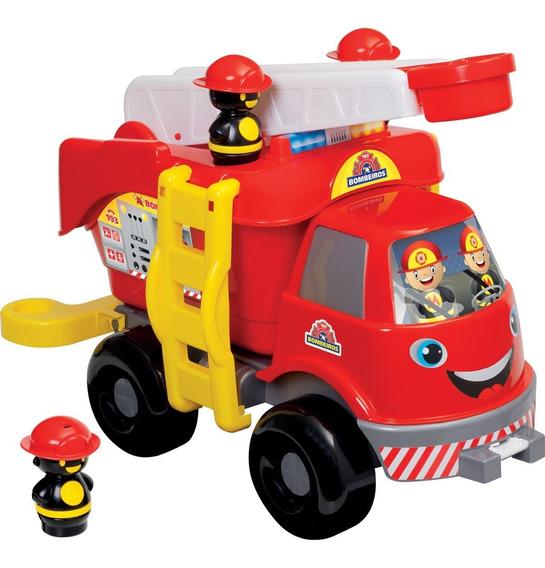 Brinquedo Bebê Caminhão Bombeiro Grande Com Som Mercotoys
