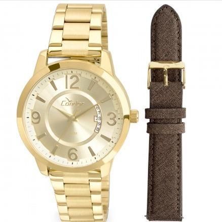 Relógio Condor Masculino Metal E Couro Co2115xw/k4d - 19