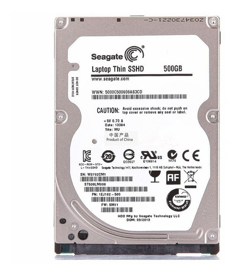 Hd 2.5 Notebook Seagate Sshd Híbrido 500gb + 8gb Ssd Novo