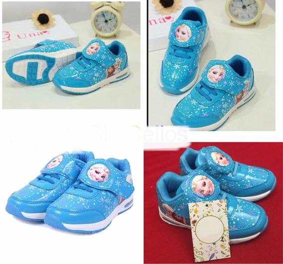 Tênis Infantil Frozen Azul Número 25