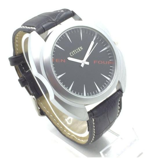 Reloj Citizen Cuarzo Niquel Satin Dial Negro 45mm Correa (8)