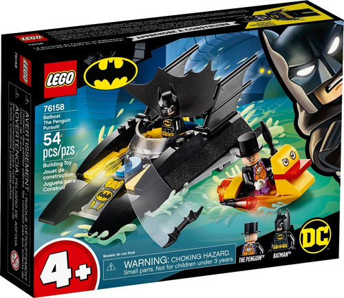Lego® Batman - Caza Del Pingüino En La Batilancha (76158)