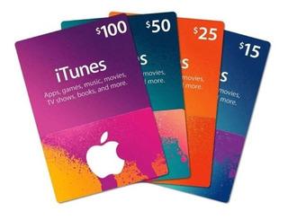 Tarjeta Itunes 5 Dolares Usa 10-15-25-30-50-100