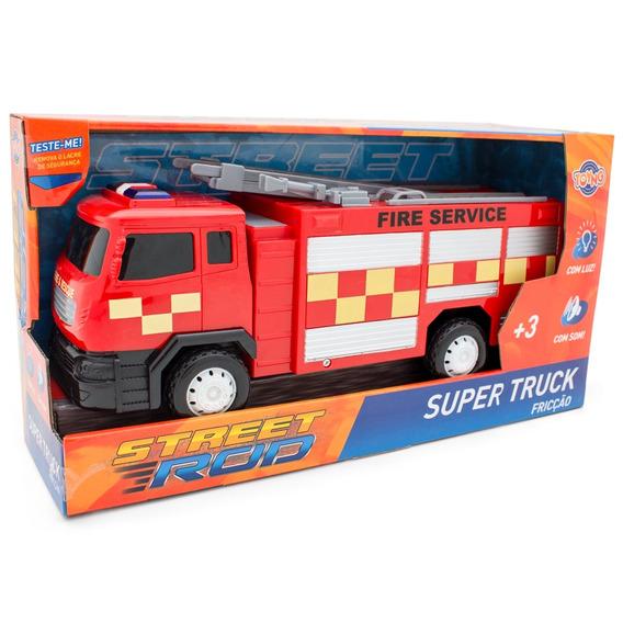 Carrinhos De Fricção Com Luz E Som Super Truck Toyng