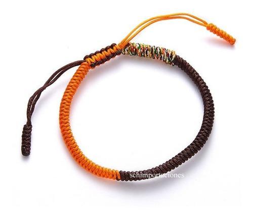 Nueva Pulsera Tibetana De La Suerte - Bicolor  -