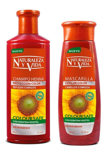 Imagen 1 de 5 de Kit Naturaleza Y Vida Cobrizo Shampoo + - mL a $80