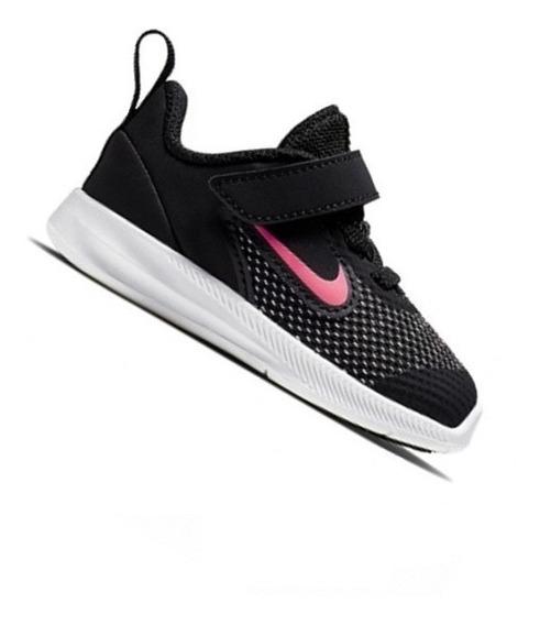 Tênis Nike Infantil Downshifter Preto Rosa Menina Ar4137003