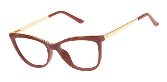 Armação Oculos Ogrife Og 996-c Feminino Com Lente Sem Grau