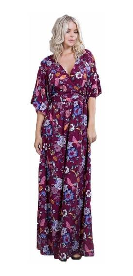Maxi Vestido Ark & Co. Con Estampado Floral Y Animal