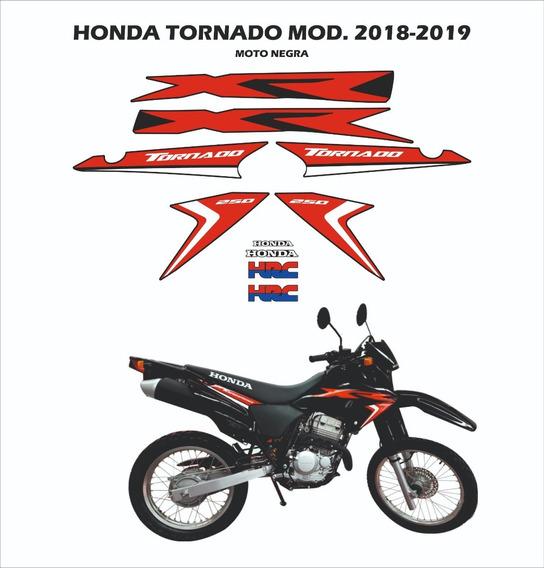 Kit Gráfica Honda Tornado 2018-2019 Moto Negra