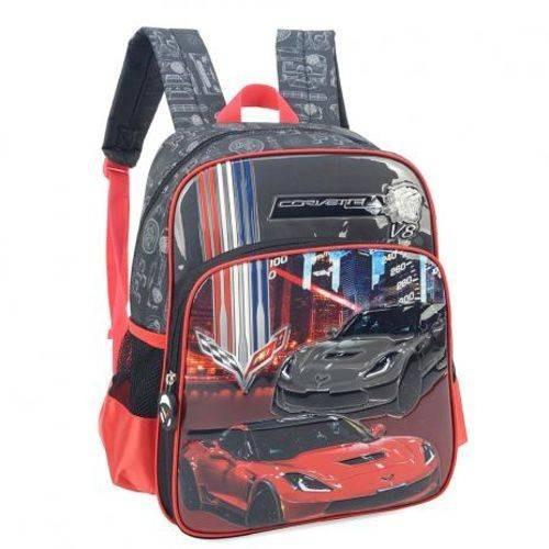 Mochila Infantil Corvette Vermelha Luxcel Grande