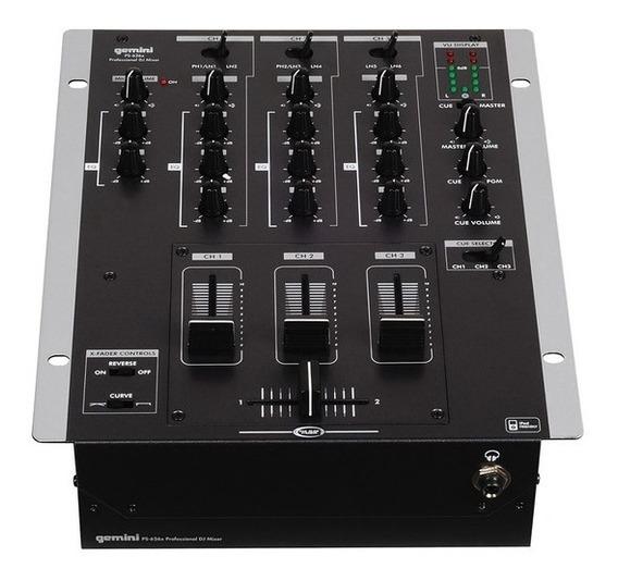 Mixer De 3 Canais Gemini Ps 626 X Dj