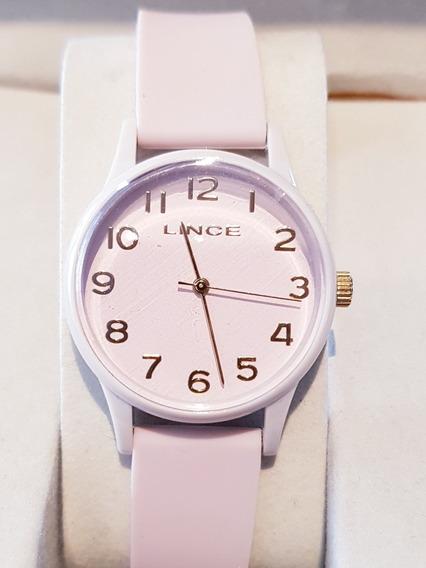Relógio Feminino Lince Analógico Rosa