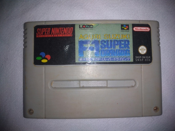 Jogo F1 Super Driving Aguri Suzuki Super Nintendo Original