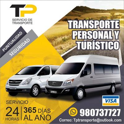 Transporte Personal Turistico. Alquiler Buses, Vans, Paseos